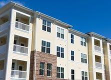 Apartment building exterior. Typical suburban apartment building exterior details Royalty Free Stock Photo