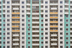 Apartment building facade. Abstract background - Moscow, Russia Royalty Free Stock Photo