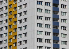 Apartment Building Facade with Colors in Perspective Stock Images