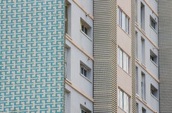 Apartment building facade detail Stock Photos