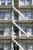 Apartment Building Fire Escape Stairs Stock Photo