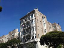 Apartment building in Franklin street San Francisco Royalty Free Stock Images