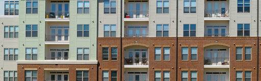 Apartment building front Stock Photography