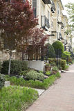 Apartment building with garden Royalty Free Stock Photos