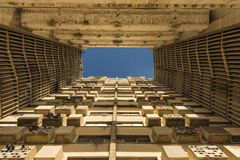 Apartment building Girón Havana. The 17-storey Edificio Girón apartment building, located in the Malecón, between E and F, in the El Vedado, was built in the Royalty Free Stock Images