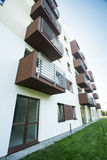 Apartment building having balconies Stock Photos