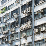 Apartment building in Hong Kong. Abstract city background. Royalty Free Stock Photo