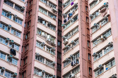 Apartment building in Hong Kong. Abstract city background. Royalty Free Stock Images