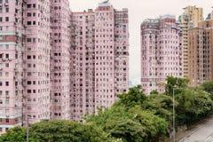 Apartment Building in Hong Kong. Royalty Free Stock Image