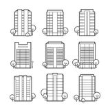 Apartment building icons Stock Photos