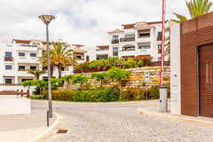 Apartment building in Lagos, Portugal Stock Images
