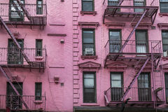 Apartment building, Manhattan, New York City Royalty Free Stock Photography