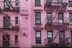 Apartment building, Manhattan, New York City Royalty Free Stock Photography