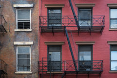 Apartment building, Manhattan, New York City Royalty Free Stock Images