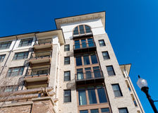 Apartment building. Modern apartment complex building exterior Royalty Free Stock Photography