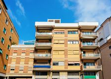 Apartment building Modern residential complex in new house in Italy. Apartment building. Modern residential complex in a new house. In Italy royalty free stock photo