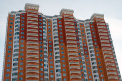 Apartment building in Moscow, Russia Stock Photos