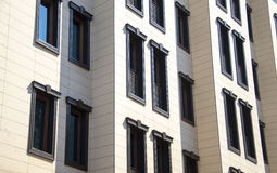 Apartment building.Multistori ed modern and stylish living block Stock Image