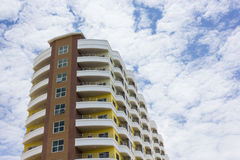 Apartment Building. A new apartment building in city Stock Images