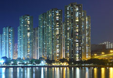 Apartment Building At Night Stock Photography Image
