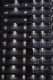 Apartment building at night Royalty Free Stock Image