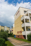 Apartment building with numer 133 and 135 Stock Photography