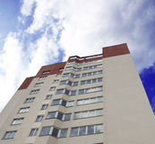 Apartment building over blue sky Royalty Free Stock Images