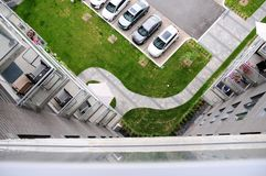Apartment building parking lot Royalty Free Stock Photography
