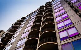 Apartment building in Philadelphia, Pennsylvania. Royalty Free Stock Images