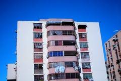 Apartment building in Cumana, Venezuela. Apartment building protected with iron bars  in Cumana, Venezuela Stock Images