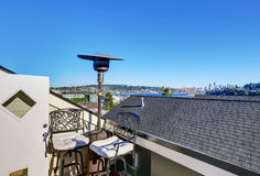 Apartment building roof top terrace exterior. royalty free stock images