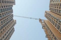 Apartment building site Stock Images