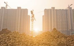 Apartment building site Stock Image