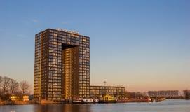 Apartment building Tasman tower in Groningen Stock Photos