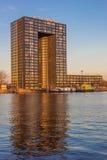 Apartment building Tasman tower in Groningen Stock Image