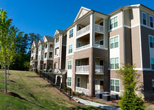 Apartment building. Typical apartment building in suburban area Royalty Free Stock Photography