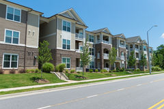 Apartment building. Typical apartment building in suburban area stock image