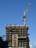 Apartment building under constructio Royalty Free Stock Photos