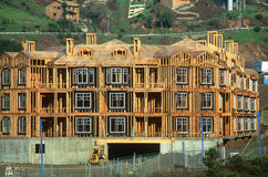 Apartment Building under construction. New construction of residential multi-unit complex Stock Photography