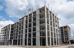 Apartment building under construction Stock Photos