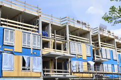 Apartment building under construction Royalty Free Stock Photo