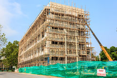 Apartment building under construction Stock Photo