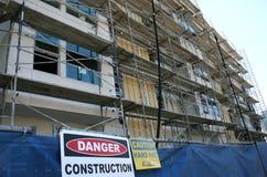 Apartment building under construction Stock Images