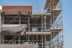 An apartment building under construction royalty free stock images