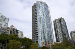 Apartment building Vancouver Downtown Stock Images