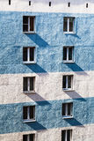 Apartment building wall with windows Royalty Free Stock Photography