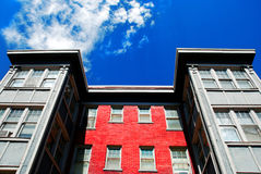 Apartment Building with Windows and Sky Royalty Free Stock Photo