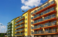 Apartment Buildings. Brand new apartment buildings for sale Stock Photos