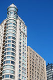 Apartment buildings. Apartment towers is against blue sky Royalty Free Stock Photo