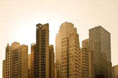 Apartment buildings. At Causeway Bay district, Hong Kong Island, Hong Kong, China Stock Photos